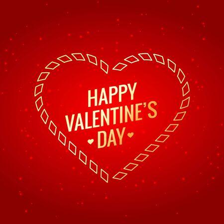 golden heart: valentines day with golden heart Illustration