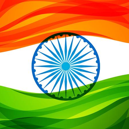 ashoka: indian flag background Illustration
