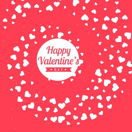 day: valentines day pink background Illustration