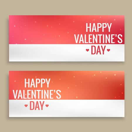 day: happy valentines day banners Illustration