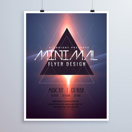 remix: minimal space theme flyer template design with shiny light effect