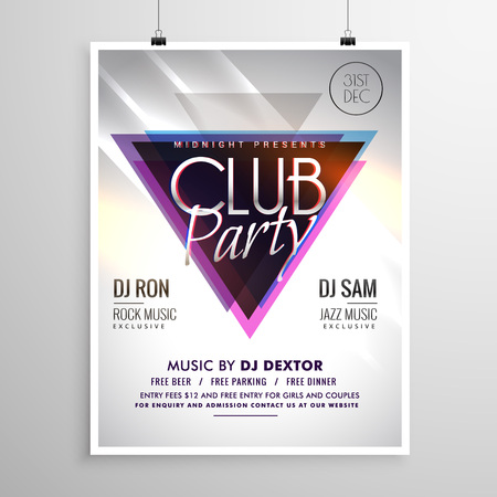 Club Party Music Flyer Invitation Template Poster Royalty Free ...