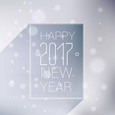 minimal style happy new year 2017 background
