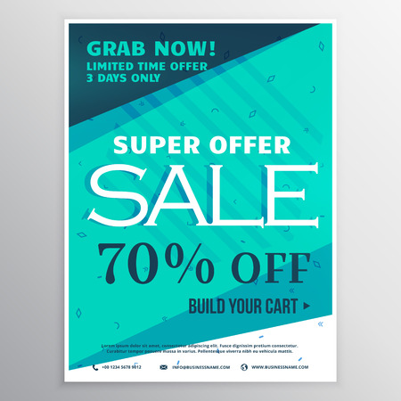 Modern Promotional Flyer Template With Discount And Offer With