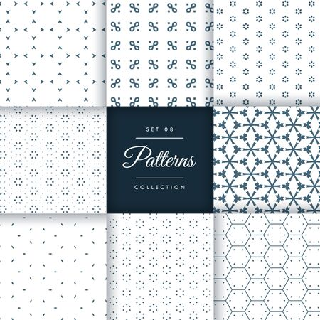 minimal: beautiful minimal pattern pack collection in 8 different styles