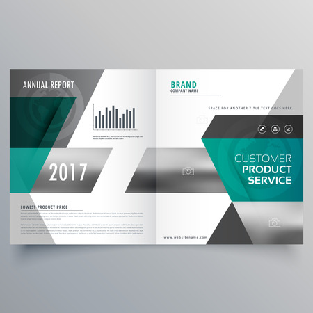 magazine template: professional business cover template design for magazine