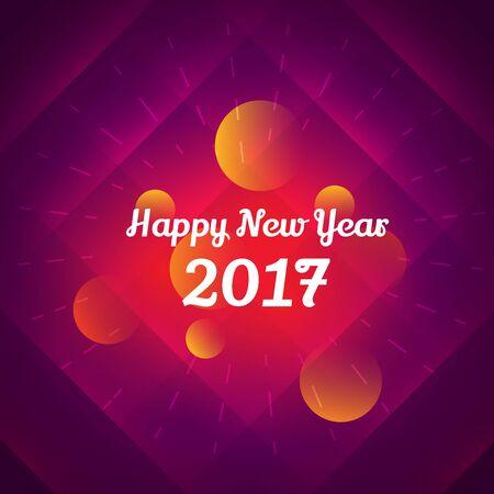 new year celebration: happy new year 2017 celebration design Illustration