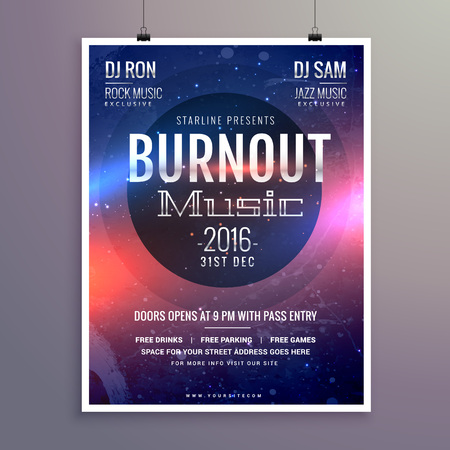 event party: music flyer brochure poster template for your music event party