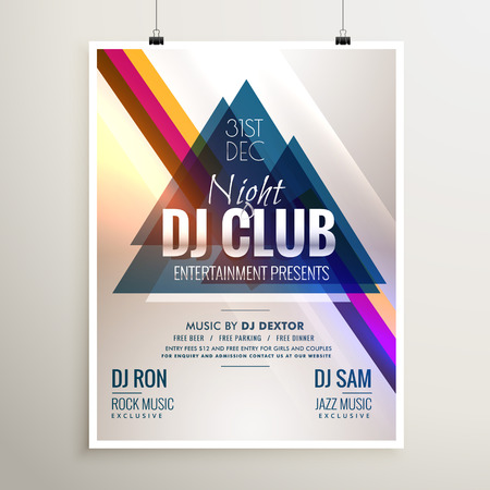 event party: creative club music party event flyer template with abstract shapes