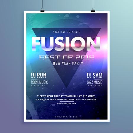 remix: stylish modern music flyer design template