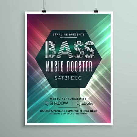 Techno-Musik-Party-Flyer Broschüre Vorlage In Der Modernen ...