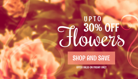 beautiful flower sale banner template for marketing and promotion Illustration