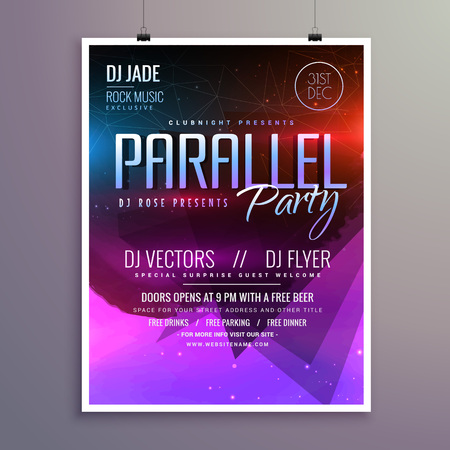 remix: amazing modern music party flyer brochure template