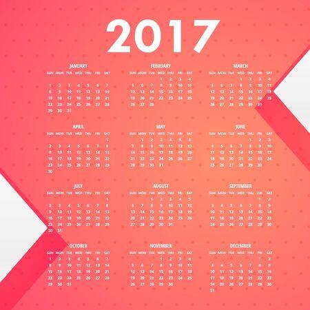 pink background for 2017 calendar