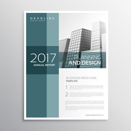 elegant business leaflet template design in a4 size Illustration