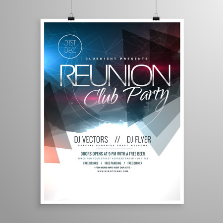 event party: event club party flyer template brochure design