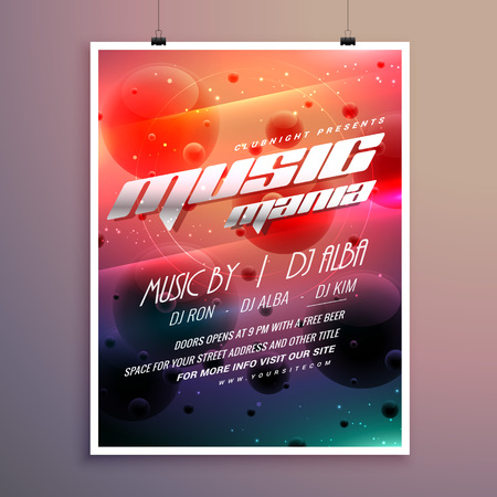 remix: music party event flyer with colorful background