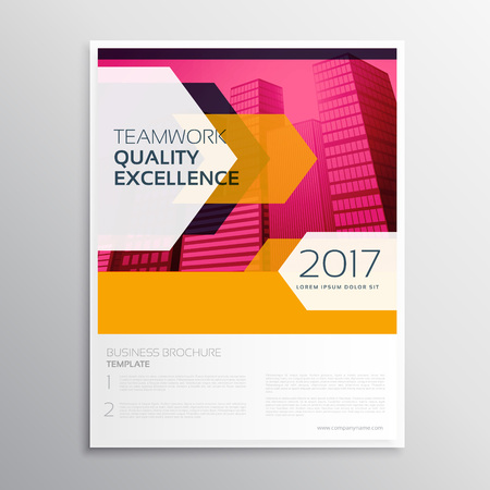 Stylish abstract business leaflet template design with arrow stylish abstract business leaflet template design with arrow shapes moving towards the building stock vector wajeb Gallery