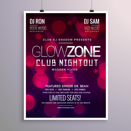 remix: beautiful event flyer design with bokeh background