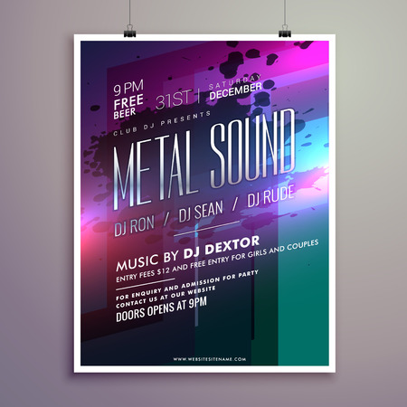 remix: abstract music flyer template for new year celebration