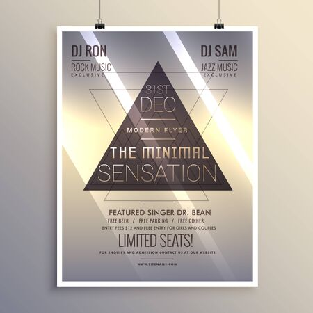 remix: minimal flyer template for new year eve