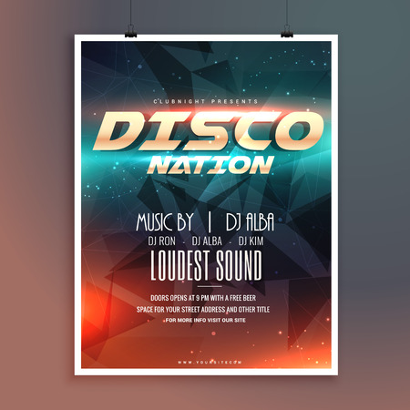 remix: amazing disco nation music event flyer template