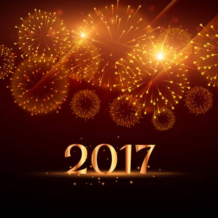 fireworks background for happy new year 2017