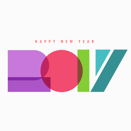colorful style: creative 2017 lettering in colorful style Illustration