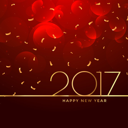 new year's card: 2017 new year celebration background in red color