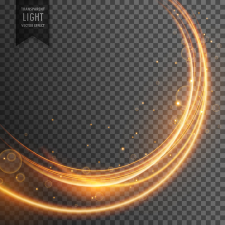 beautiful golden light effect in wave style