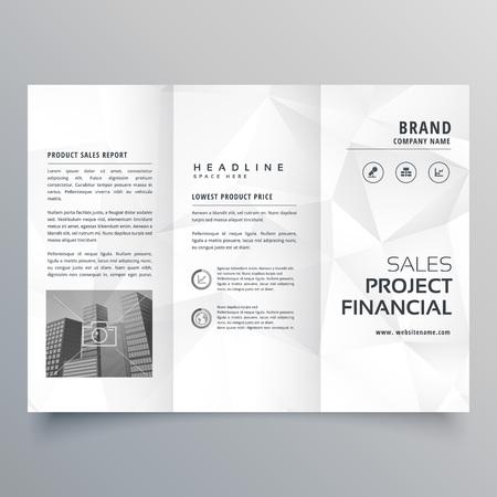 Creative Circles Tri Fold Brochure Template Design For Business - Tri brochure template