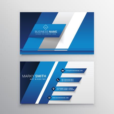 blue card: elegant blue business card design