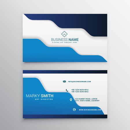 business card: blue business card template
