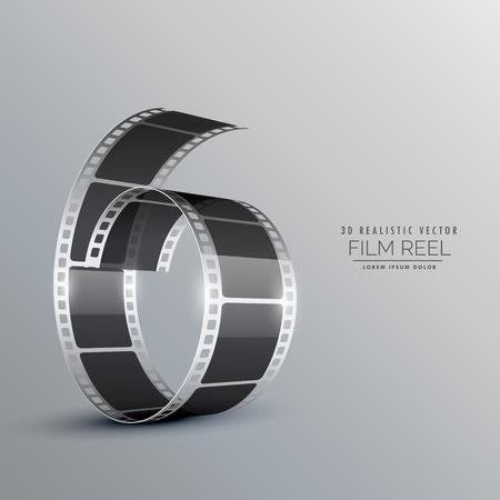 3d film: 3d film reel background