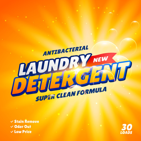 laundry detergent: laundry detergent product package design template Illustration