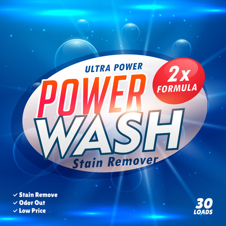laundry detergent: stain remover laundry detergent product designing template Illustration