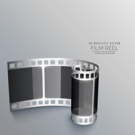 3d film: 3d film reel strip background