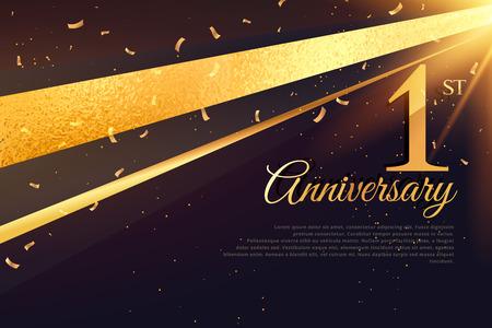 1st anniversary celebration card template