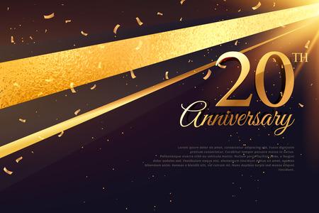 20th anniversary celebration card template