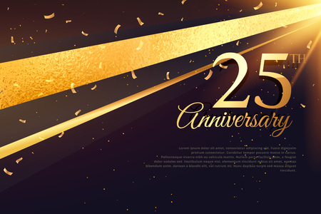 25th anniversary celebration card template
