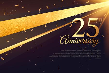 25-lecie szablon karty uroczystości