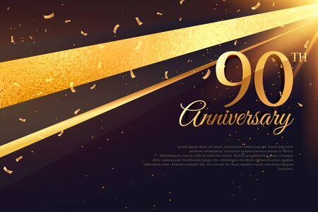 90th: 90th anniversary celebration card template