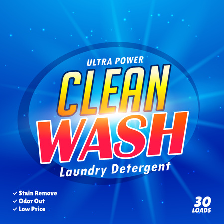 laundry detergent: packaging design template for laundry detergent