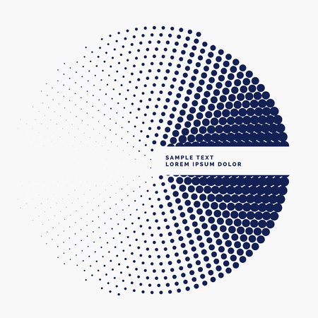 stylish halftone circle background design