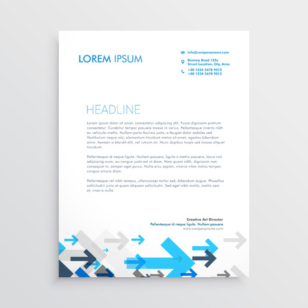 Letterhead design template with blue arrows in business style letterhead design template with blue arrows in business style stock vector 69230889 friedricerecipe Image collections