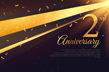 2nd: 2nd anniversary celebration card template