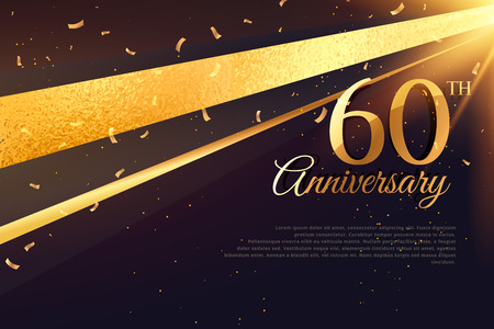 60th: 60th anniversary celebration card template