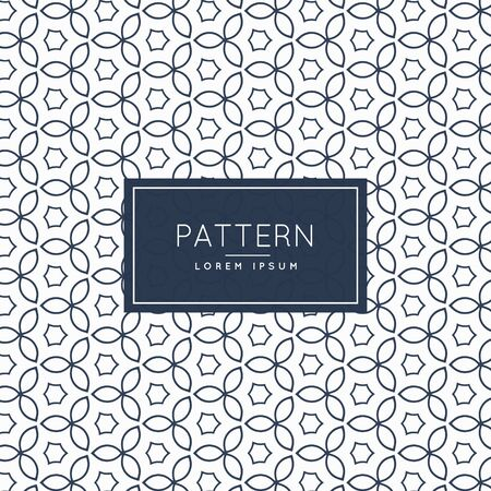 modern: modern flower line pattern background Illustration