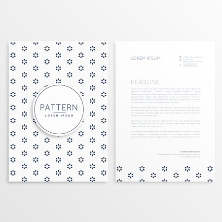 minimal: business flyer with minimal pattern