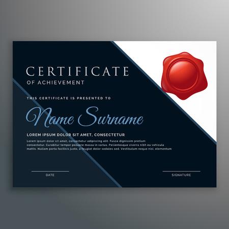 achievement: modern certificate of achievement design